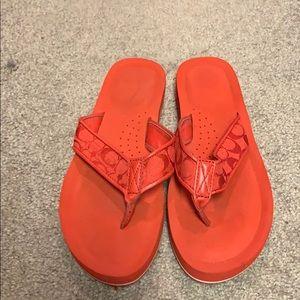 Shoes - Coach Flip Flops